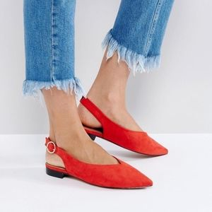 Asos ~ Loose Cannon Ballet Flats ~ Red ~ Size 6